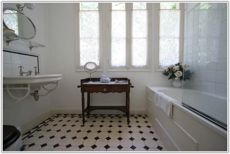 Black And White Tile Bathroom Pinterest