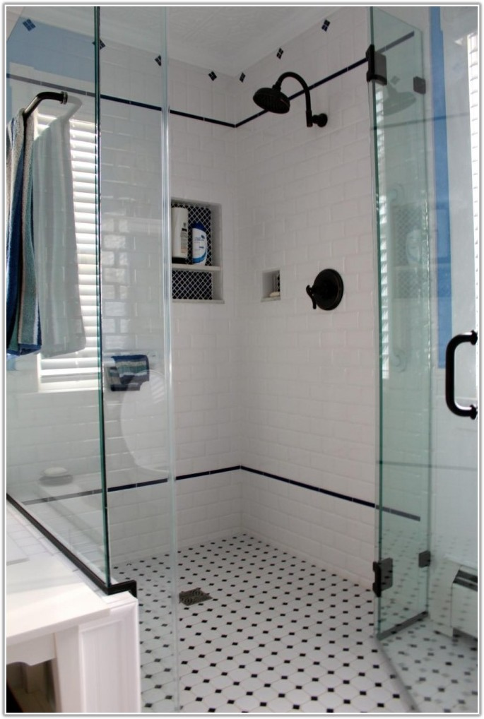 Black And White Tile For Bathroom