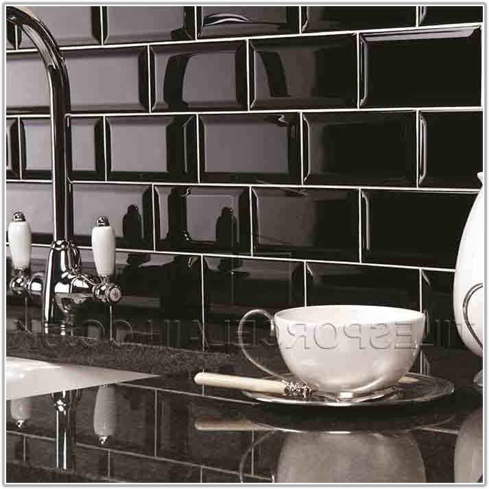 Black Brick Wall Tiles Kitchen