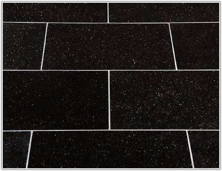 Black Granite Floor Tiles Mirror Fleck