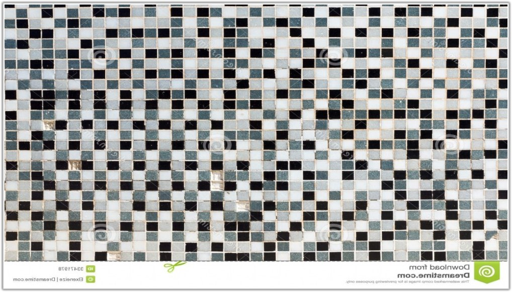 Black Grey And White Mosaic Tiles