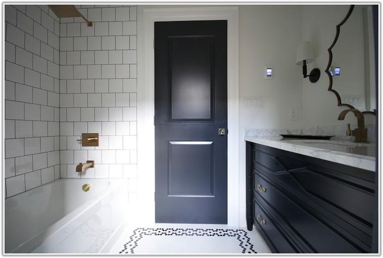Black Hex Tile Bathroom Floor