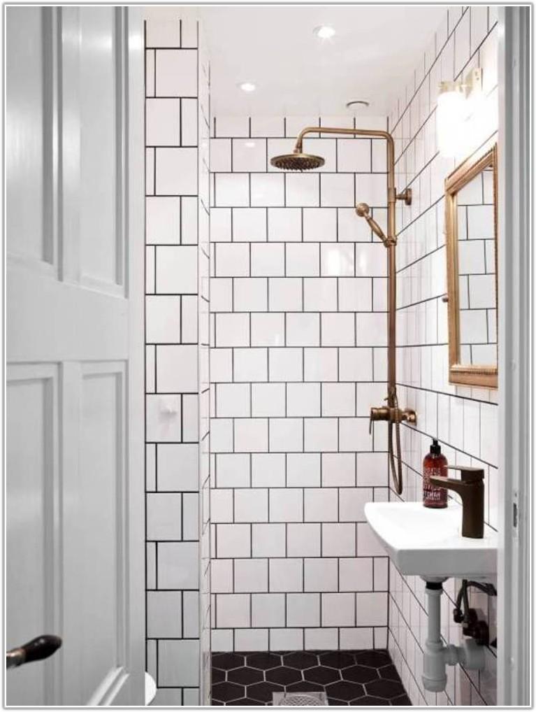 Black Hexagon Bathroom Floor Tile