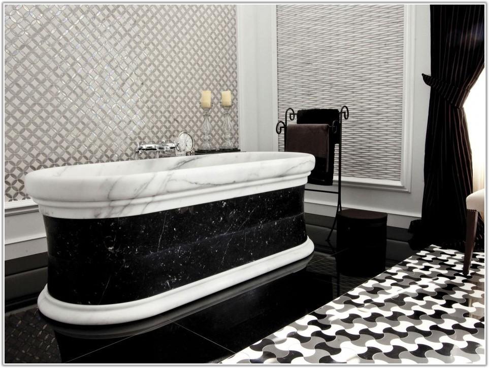 Black Marble Bathroom Floor Tiles