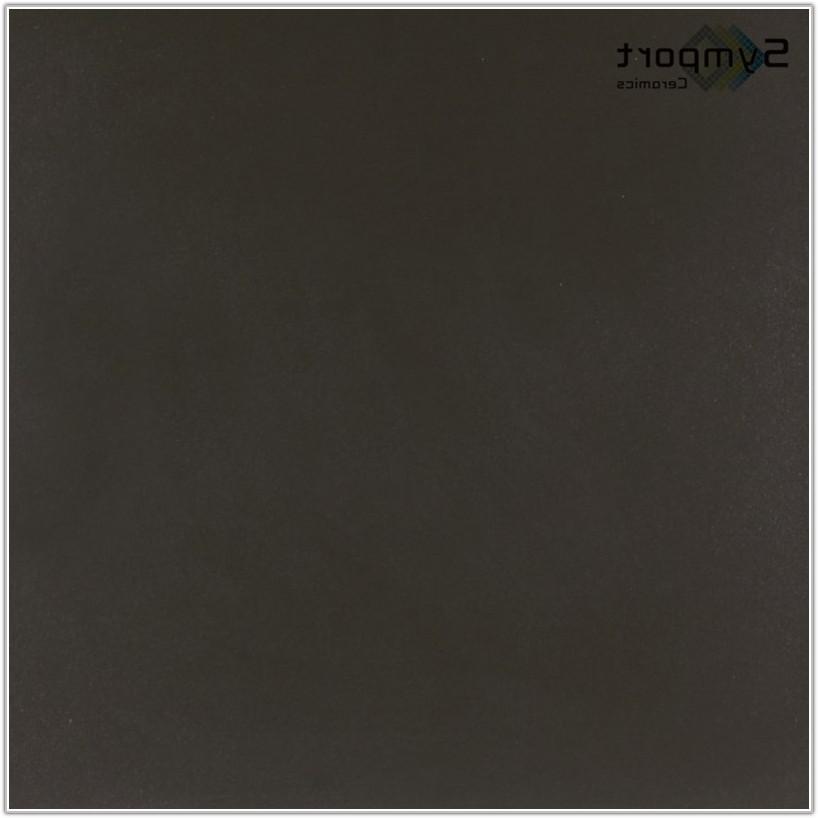 Black Polished Porcelain Floor Tiles 600x600