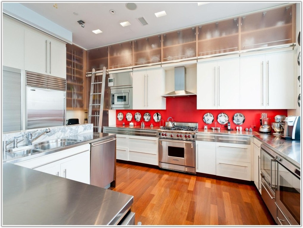 Black Red Kitchen Wall Tiles