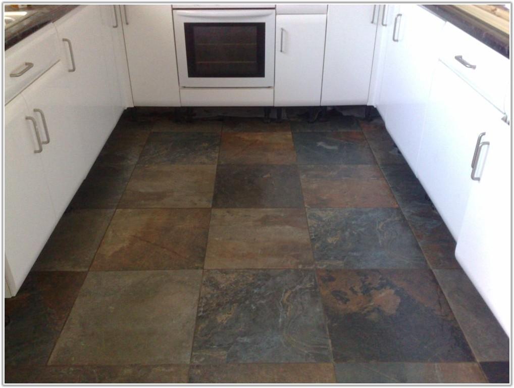 Black Slate Kitchen Floor Tiles