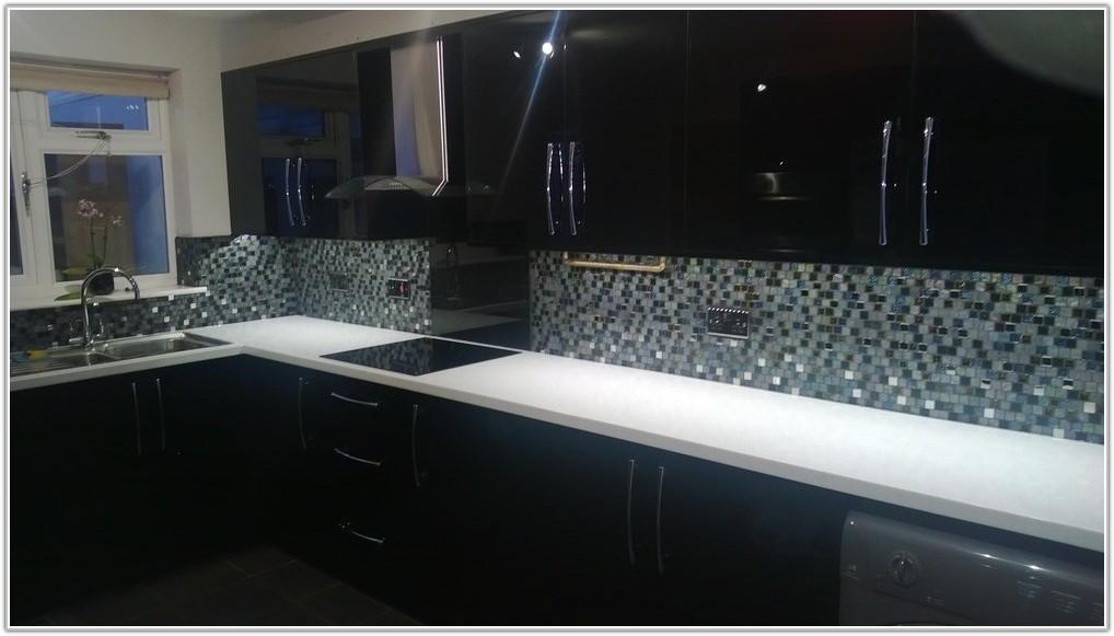 Black Sparkle Kitchen Wall Tiles