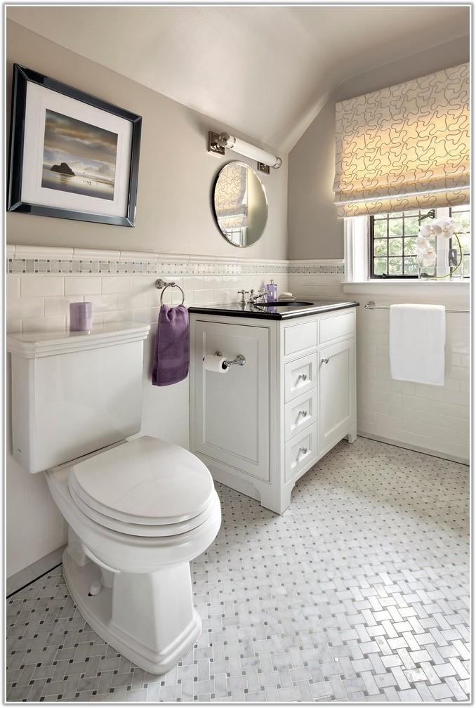 Black White Bathroom Floor Tile Patterns