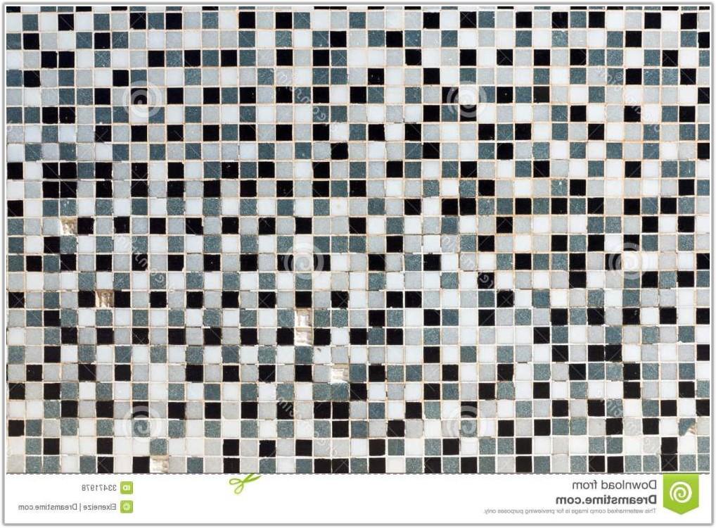 Black White Grey Mosaic Tiles