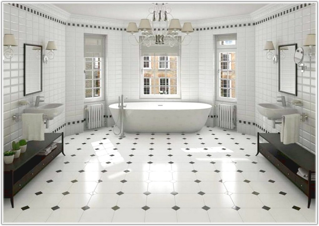 Black White Tile Bathroom Paint Color