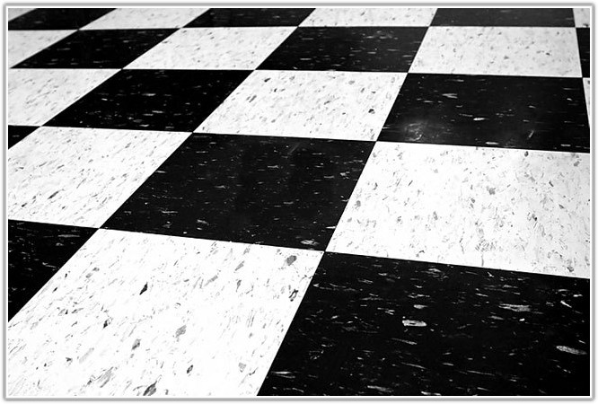 Black White Vinyl Tile Squares