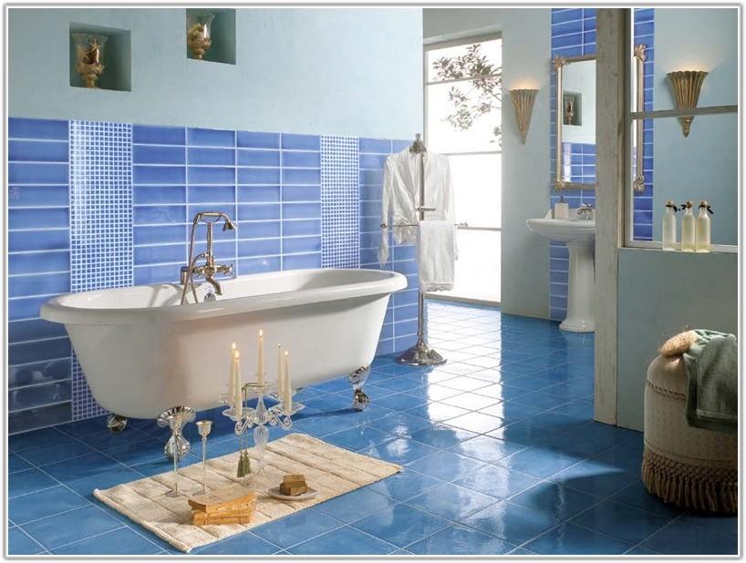 Blue And White Bathroom Tile Ideas