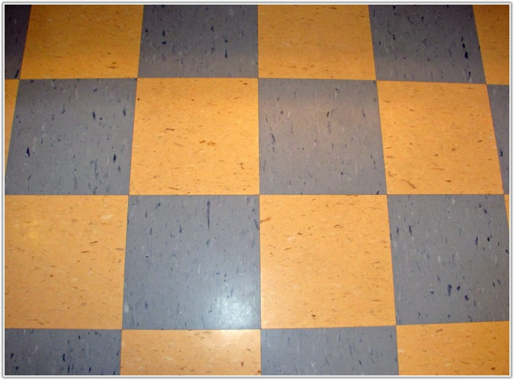 Blue And White Checkered Floor Tiles