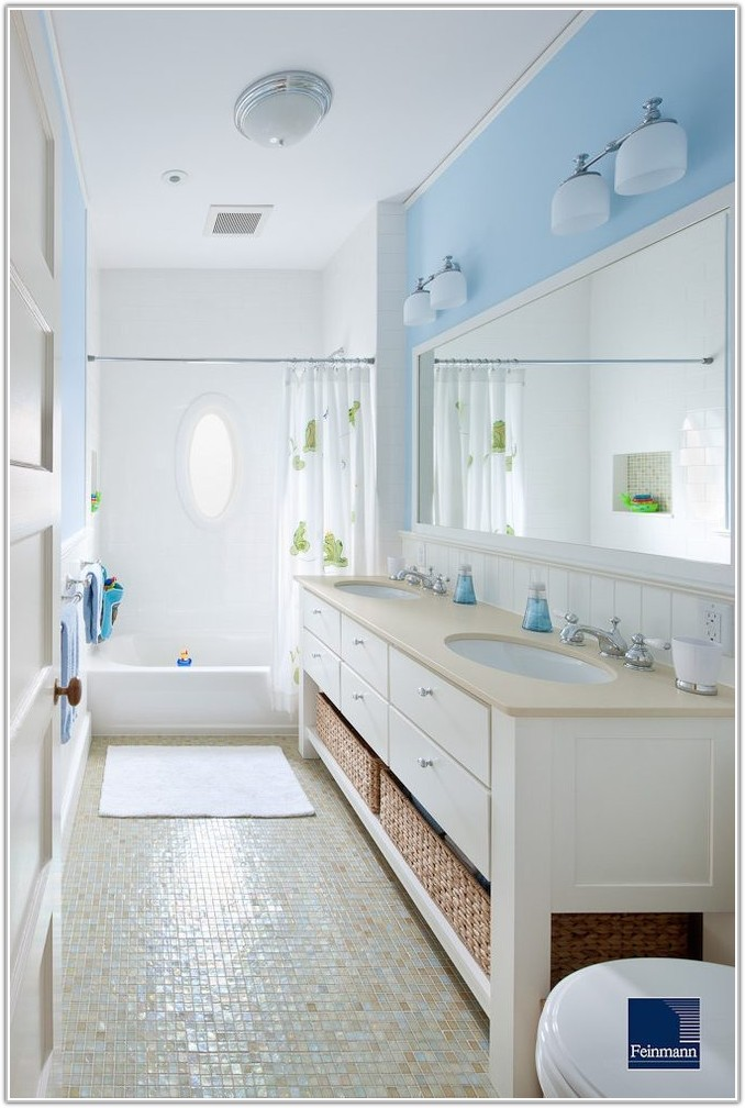 Blue And White Victorian Bathroom Tiles
