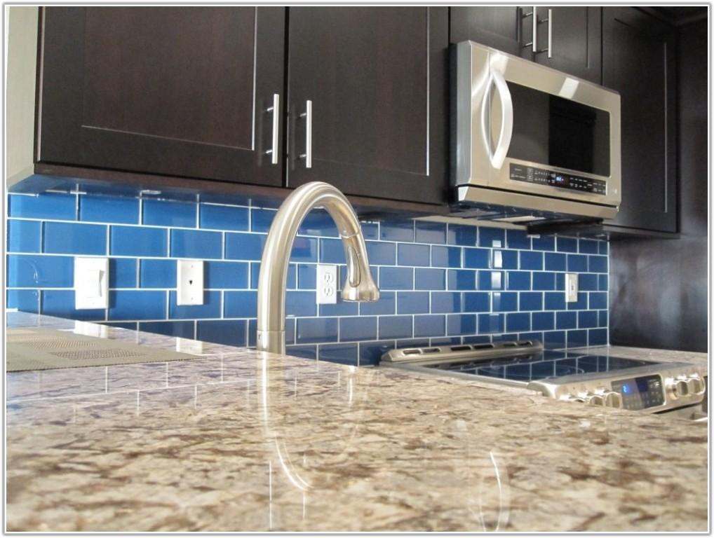 Blue Glass Tile For Kitchen Backsplash