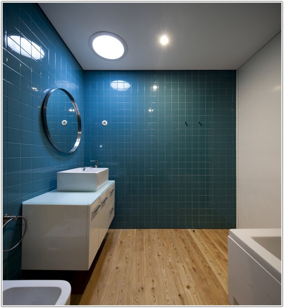 Blue Tile Bathroom Decorating Ideas