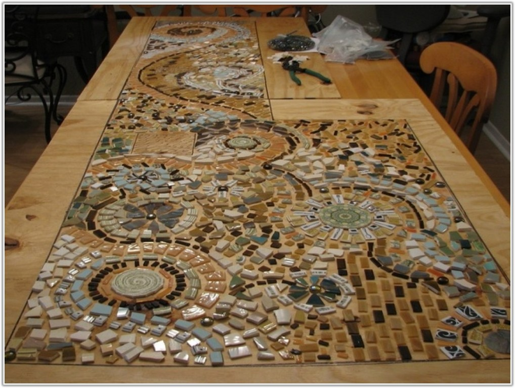 Broken Tile Mosaic Table Top