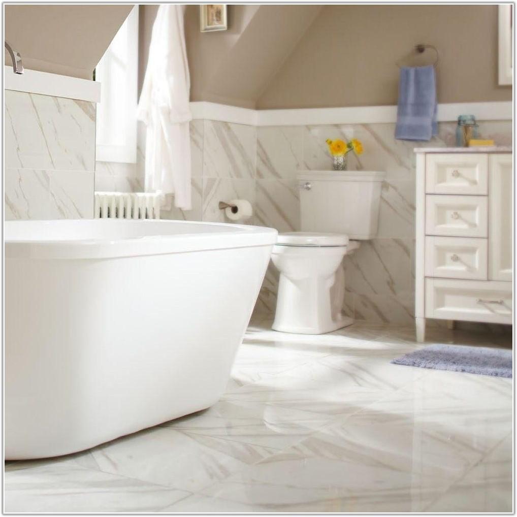 Calacatta White Glazed Porcelain Floor Tile