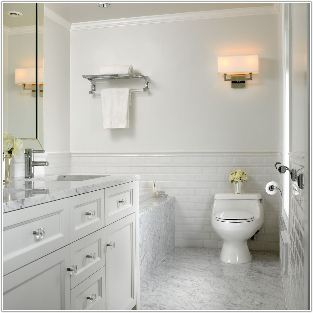 Carrara Marble Bathroom Subway Tile