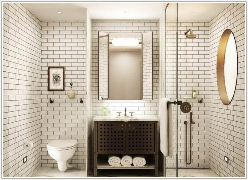 Carrara Marble Subway Tiles Bathroom