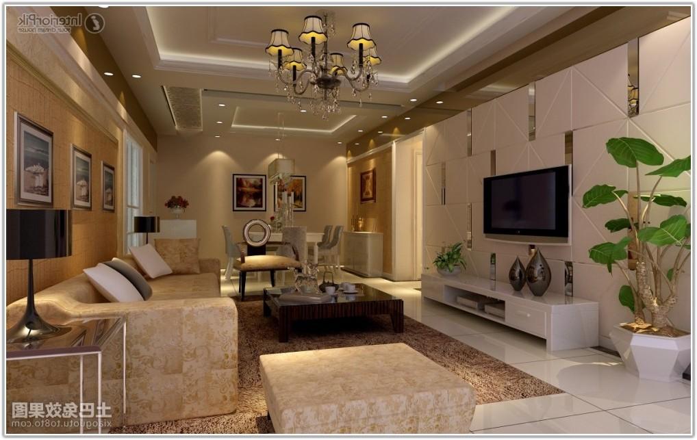 Ceramic Tile Living Room Wall