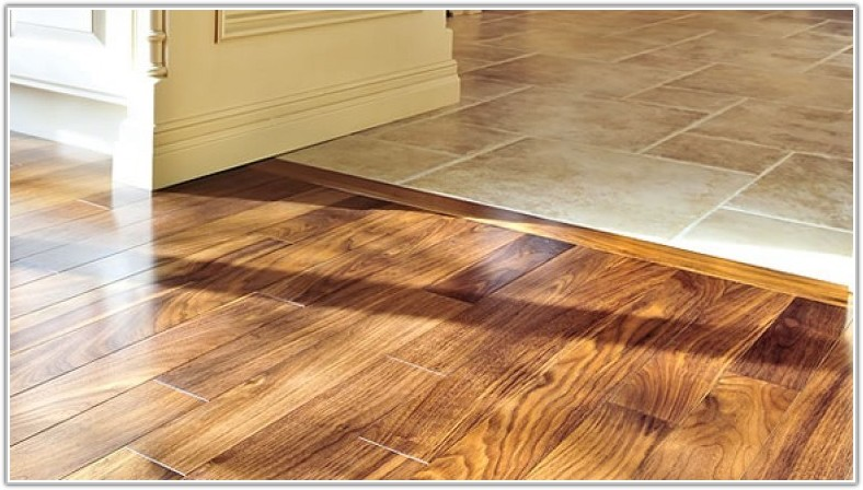 Ceramic Tile Meets Hardwood Floor