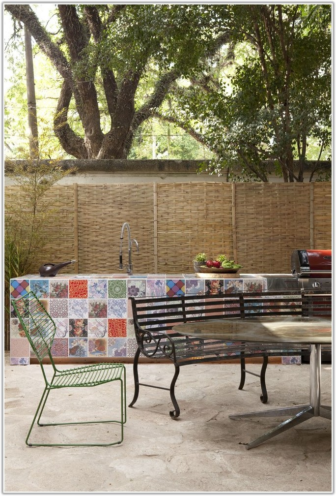 Ceramic Tile Outdoor Patio Table