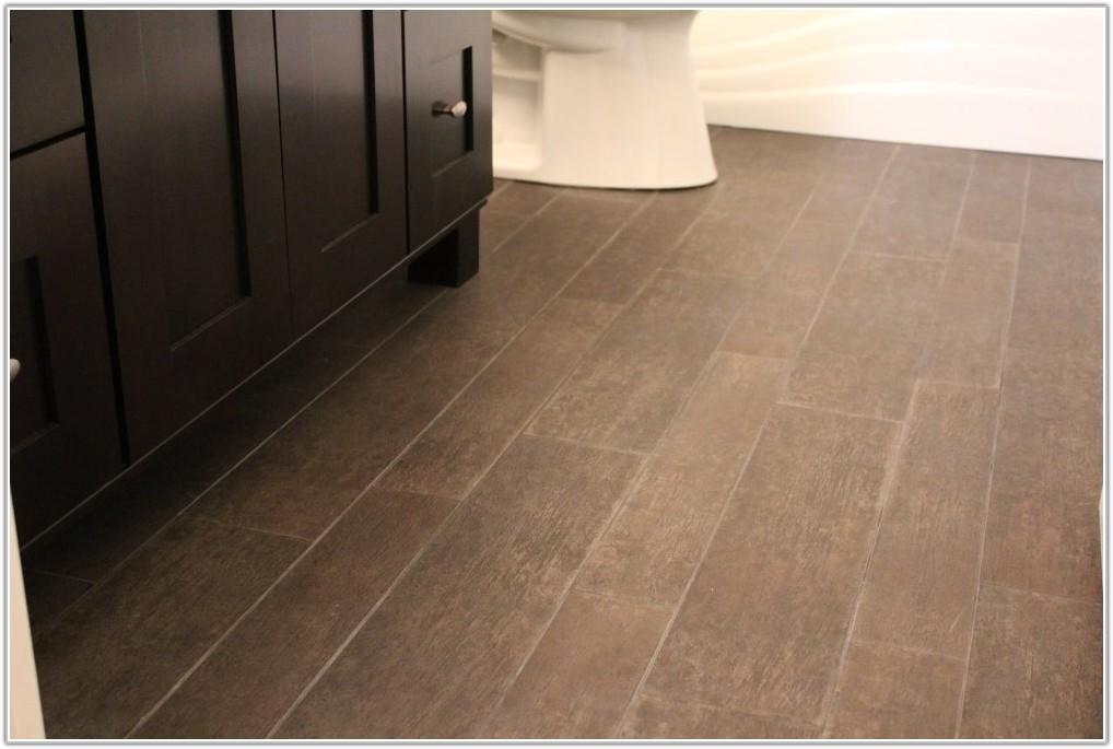 Ceramic Tiles On Wooden Floor Bathroom