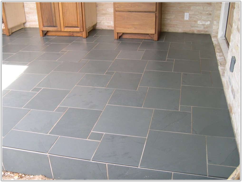 Dark Brown Ceramic Floor Tile