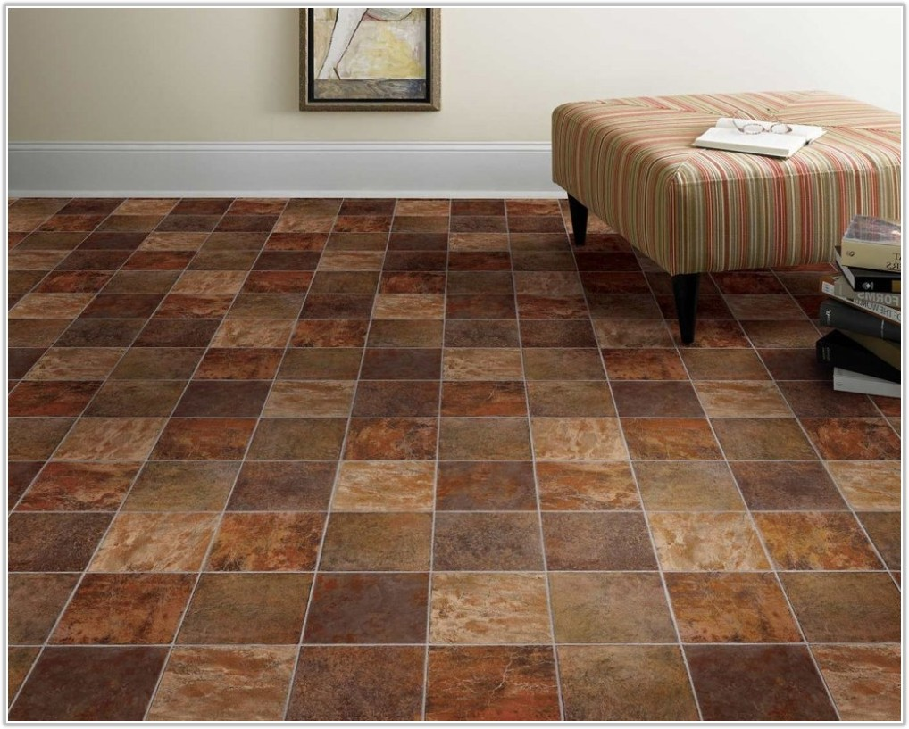 Dark Brown Vinyl Floor Tiles