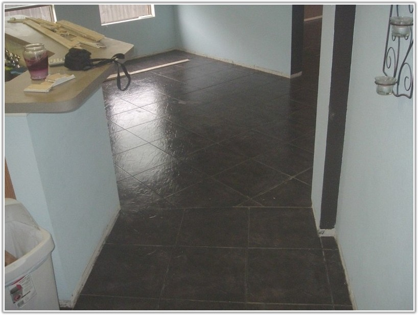 Dark Gray Ceramic Floor Tile