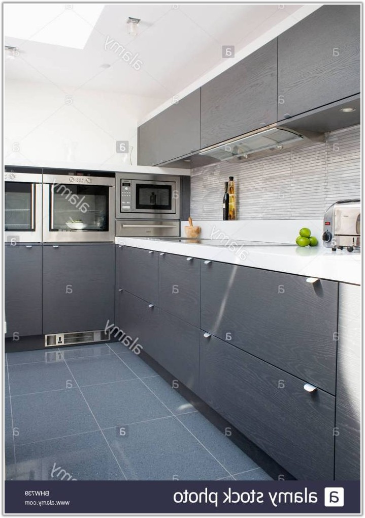 Dark Grey Floor Tiles Kitchen
