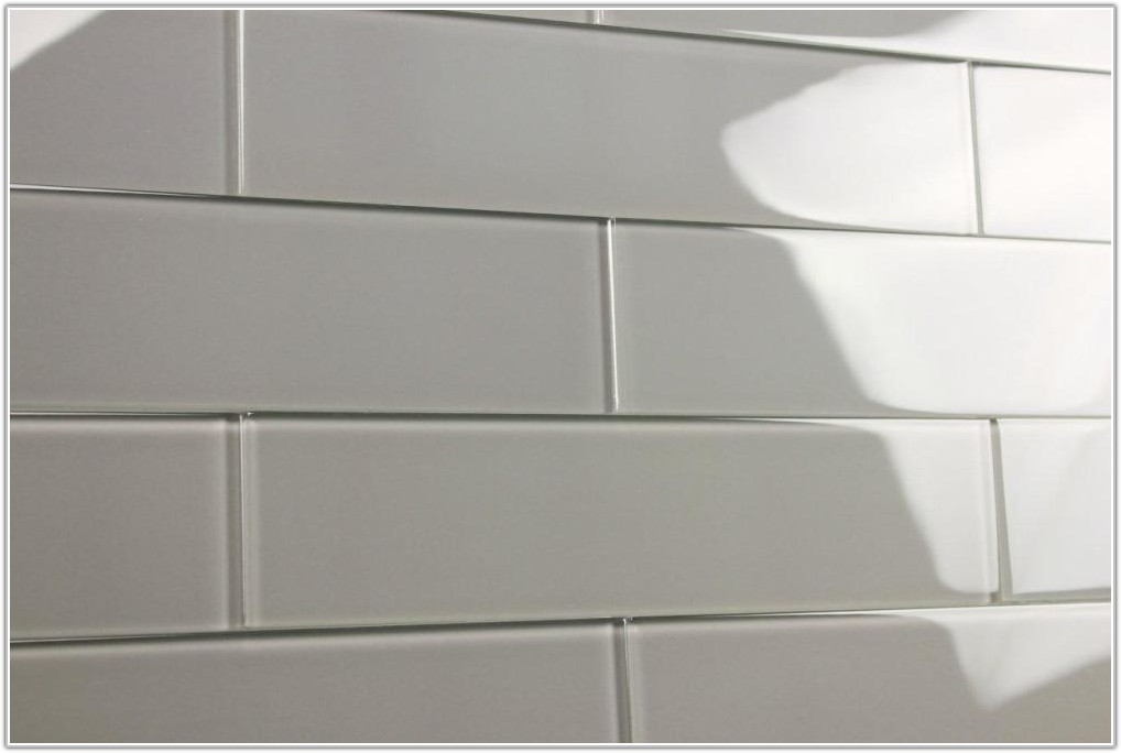 Dark Grey Subway Tile Bathroom