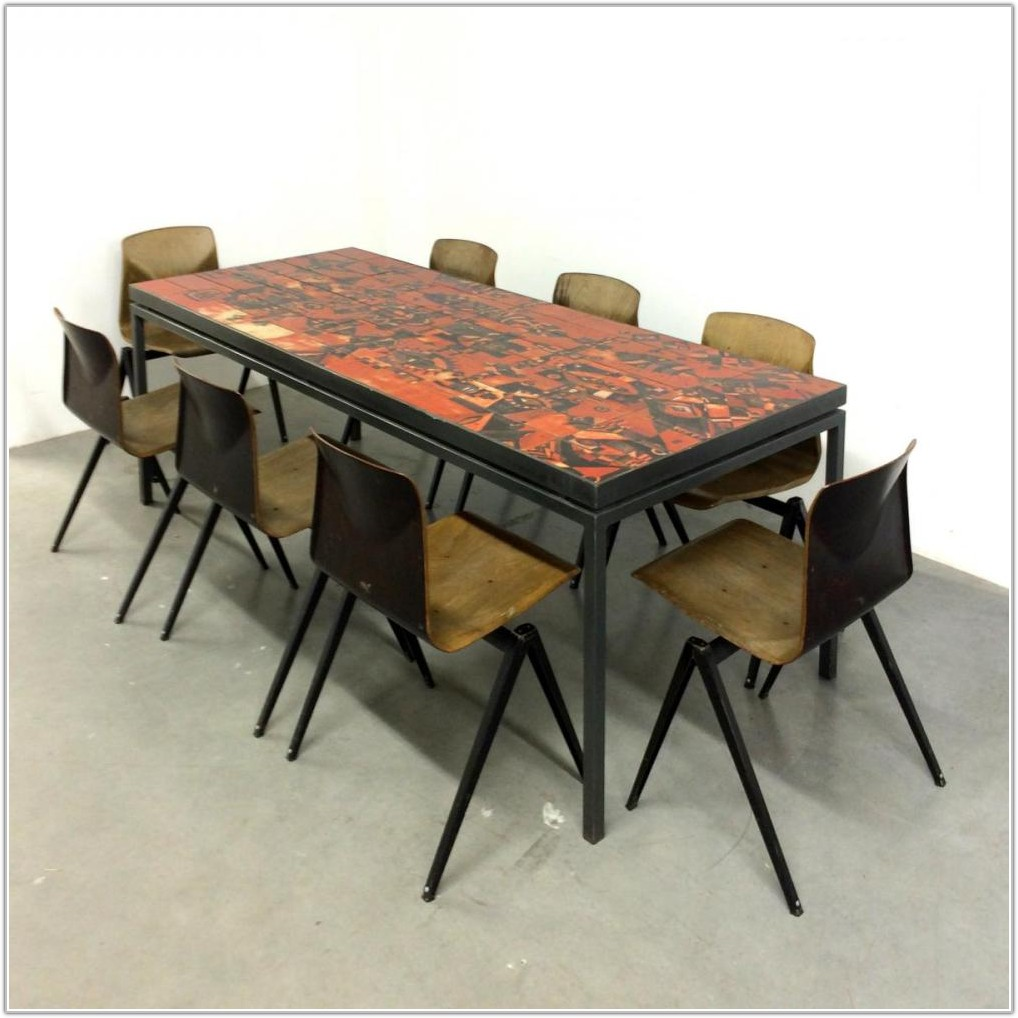 Dining Table With Tile Top