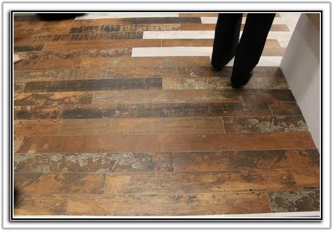 Distressed Wood Look Ceramic Tile