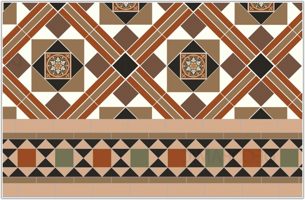 Floor Tile Designs With Border