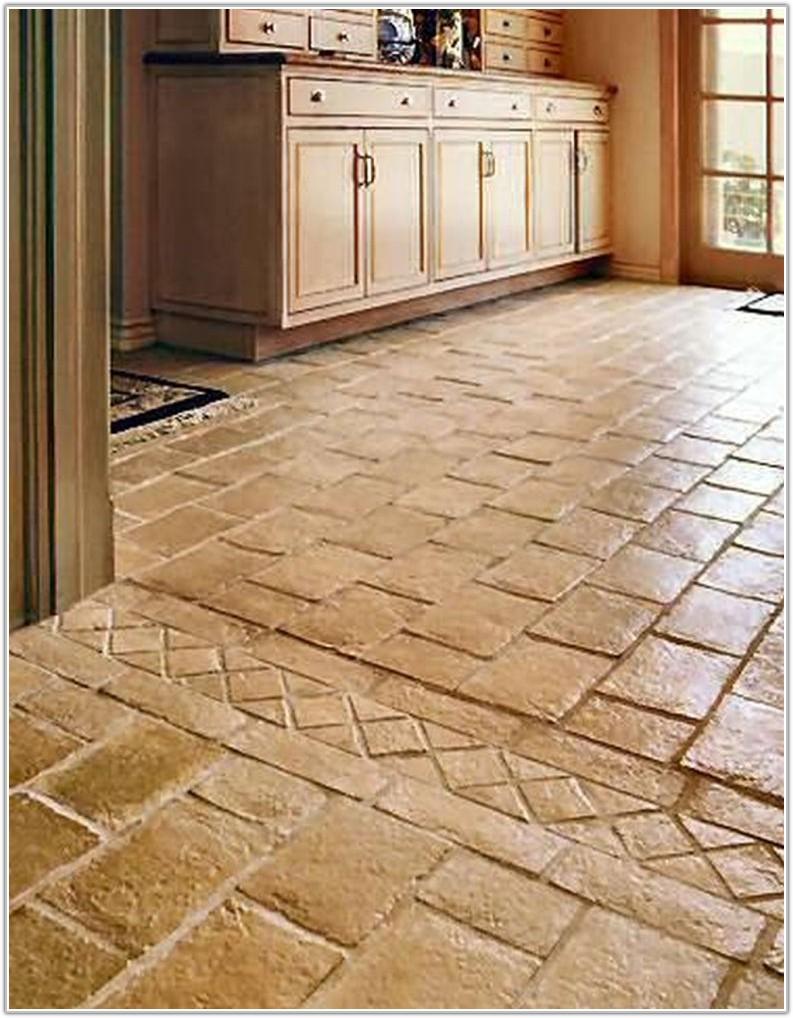 Floor Tile Ideas For White Kitchen