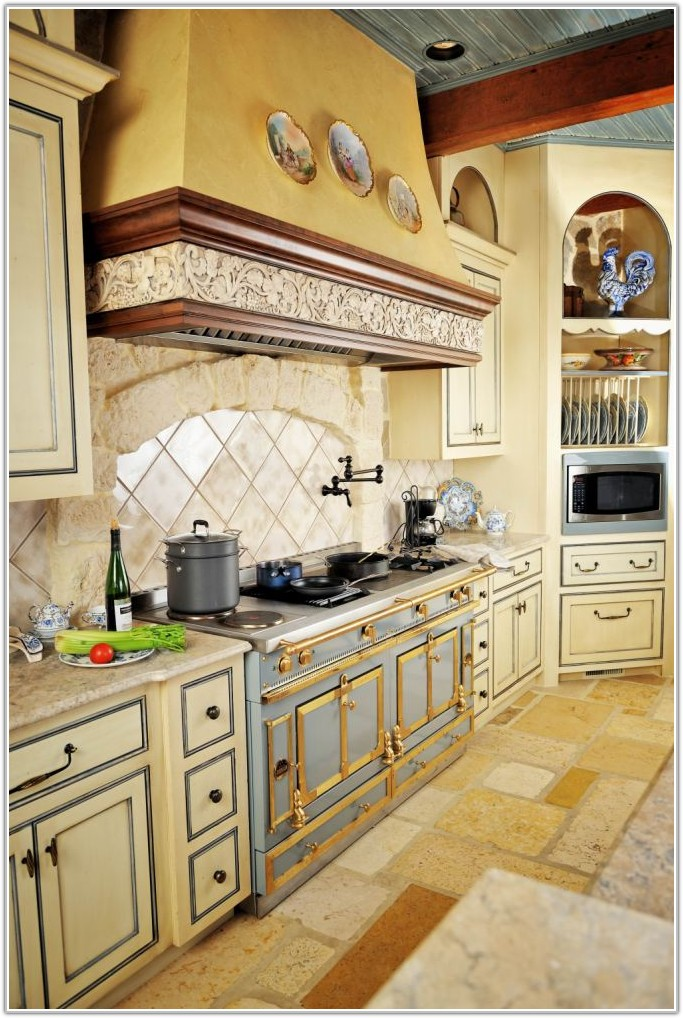 French Country Kitchen Floor Tiles