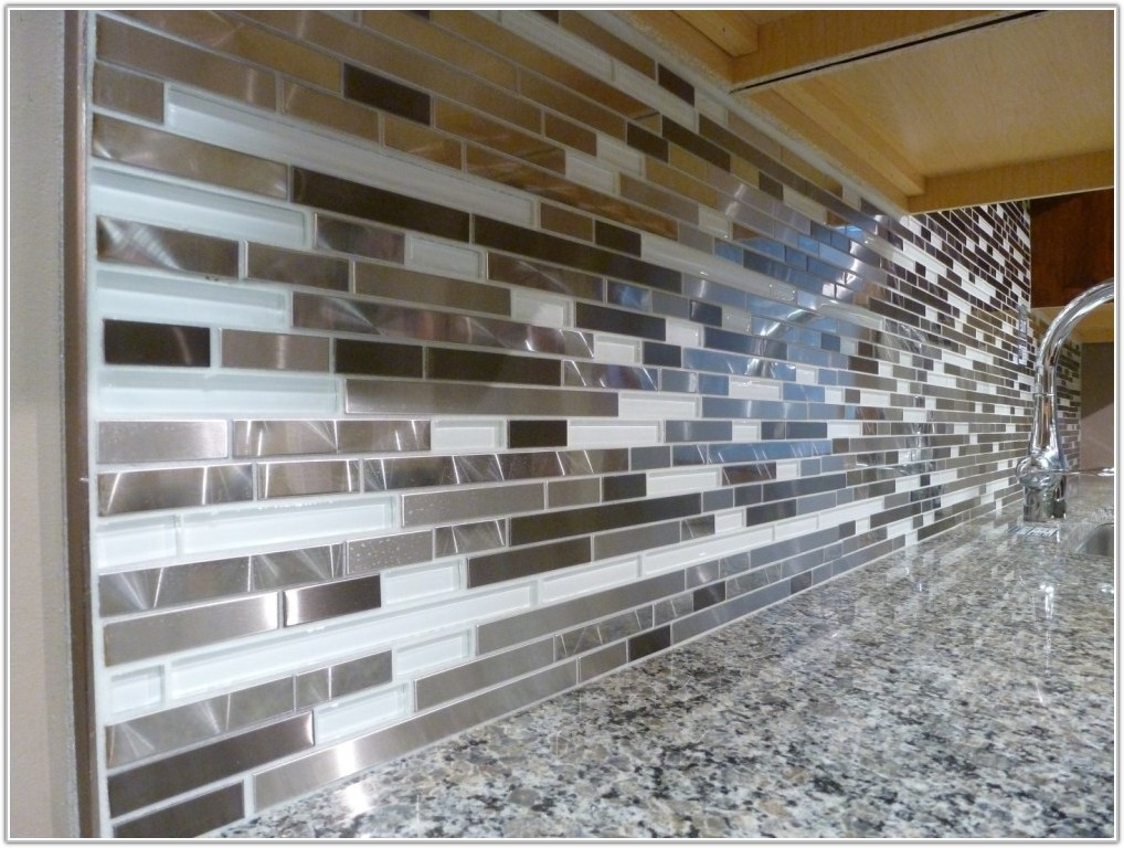 Glass And Metal Mosaic Tile