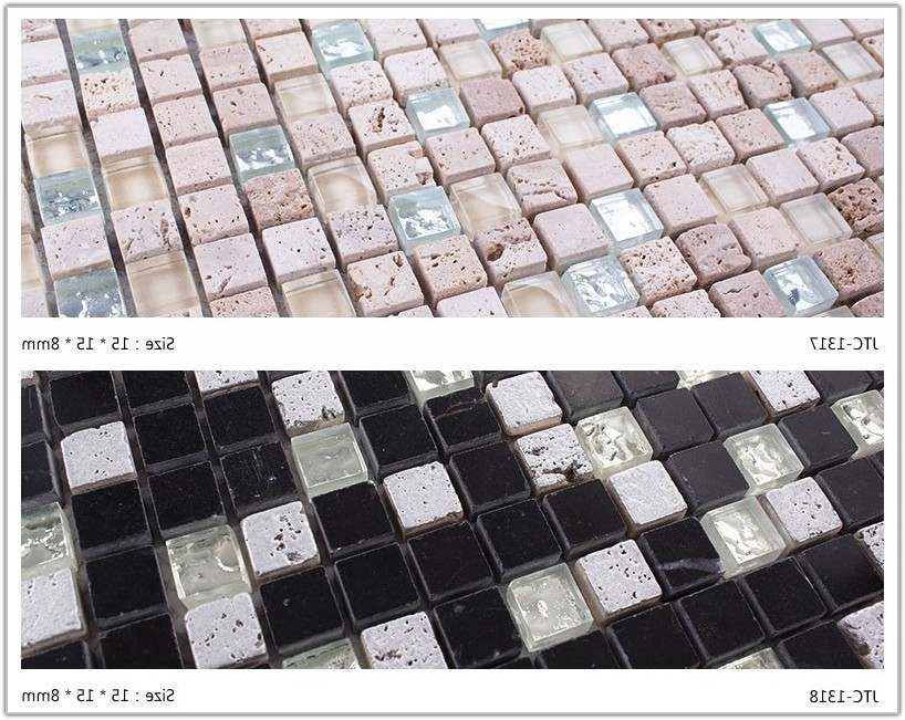 Glass And Stone Mosaic Tiles Mixed