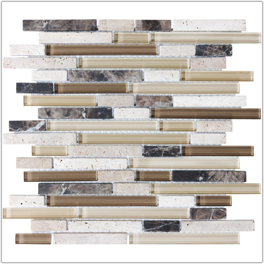Glass And Stone Mosaic Wall Tile
