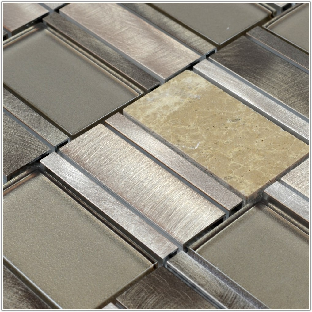 Glass Metal Stone Mosaic Tile