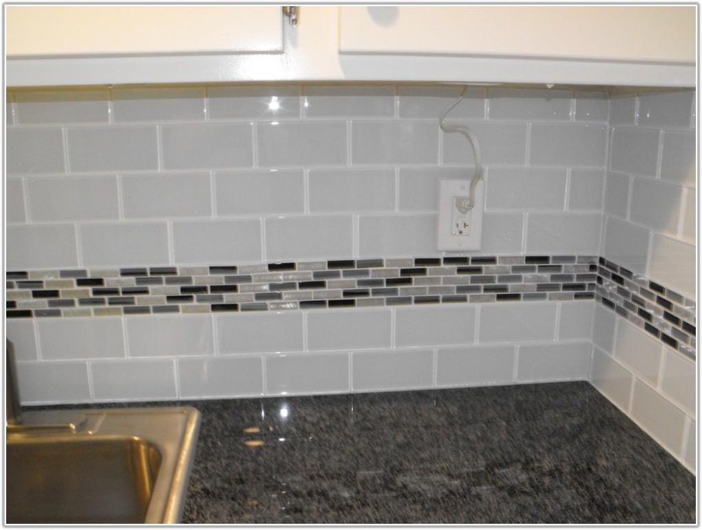 Glass Mosaic Subway Tile Backsplash