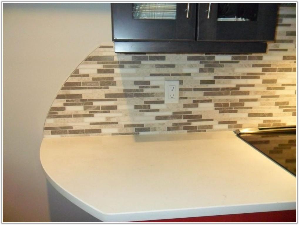 Glass Mosaic Tile Backsplash Edge