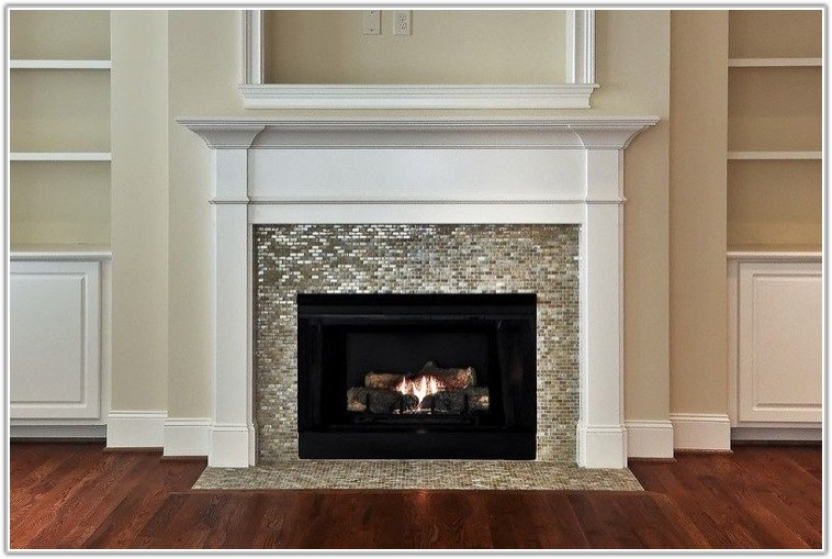 Glass Mosaic Tile For Fireplace Surround