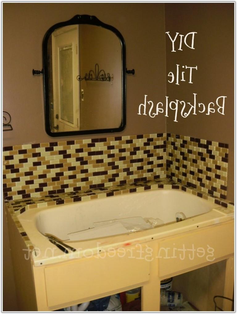 Glass Mosaic Tile In Bathroom