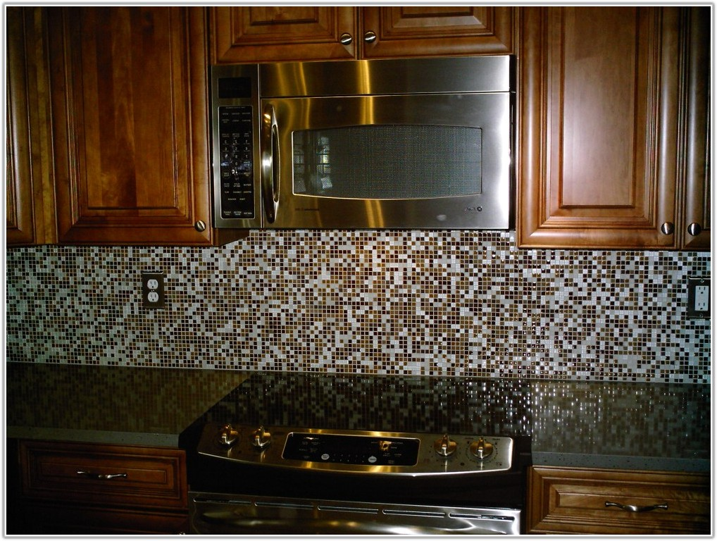 Glass Mosaic Tiles For Kitchen Backsplash