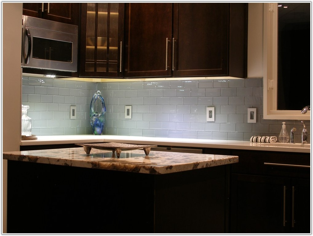 Glass Subway Tiles Kitchen Backsplash