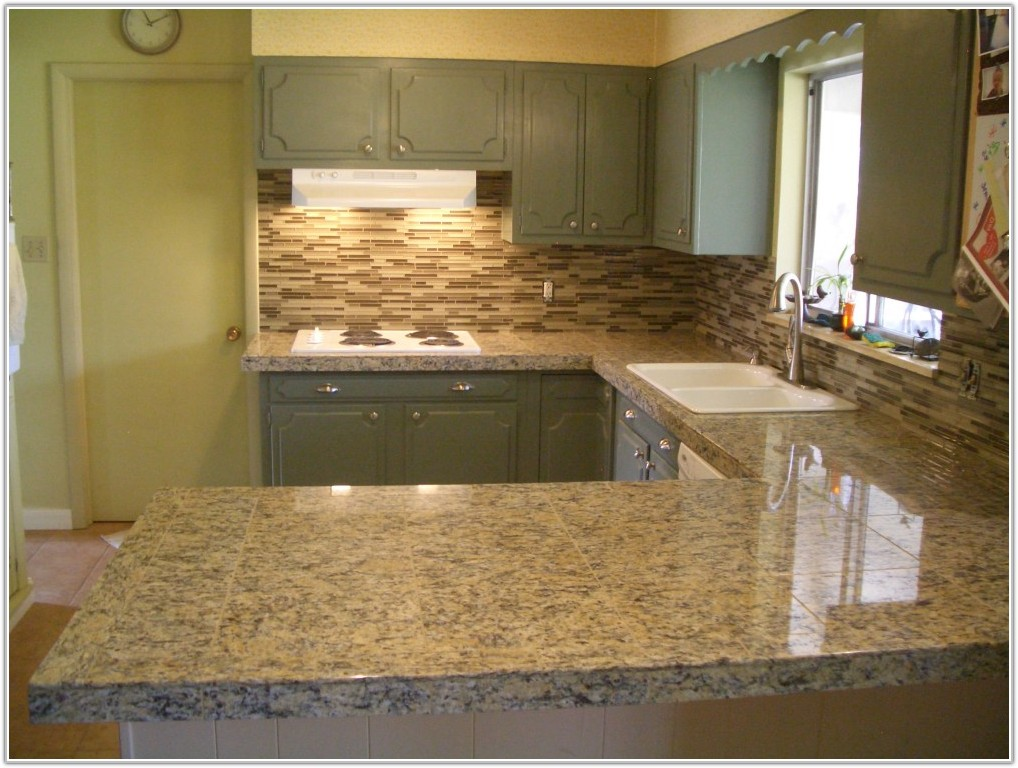 Glass Tile Backsplash In Kitchen